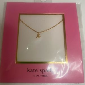 KATE SPADE INITIAL L LETTER GOLD NECKLACE